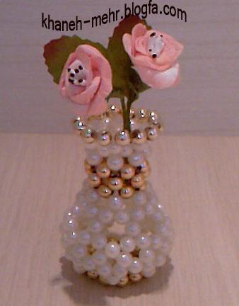 گلدان(مرواريدبافي)